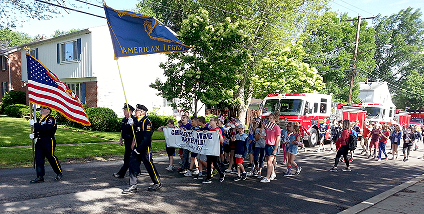 Charlotte Avenue Elementary salutes Flag Day